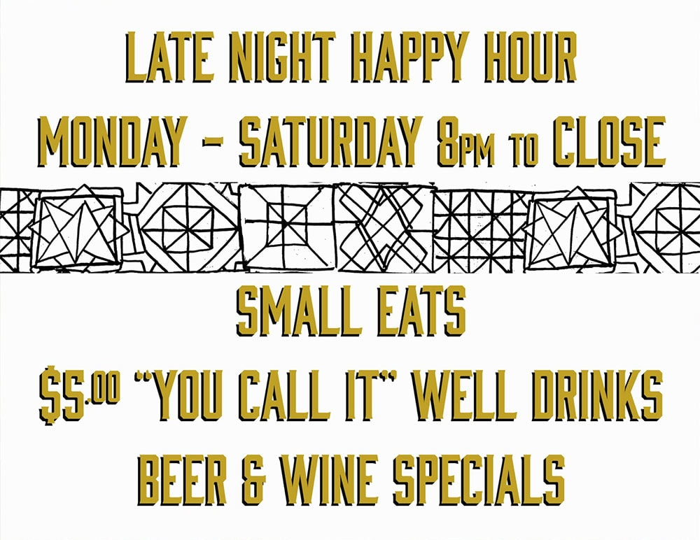 Batch & Brine Late Night Happy Hour Details